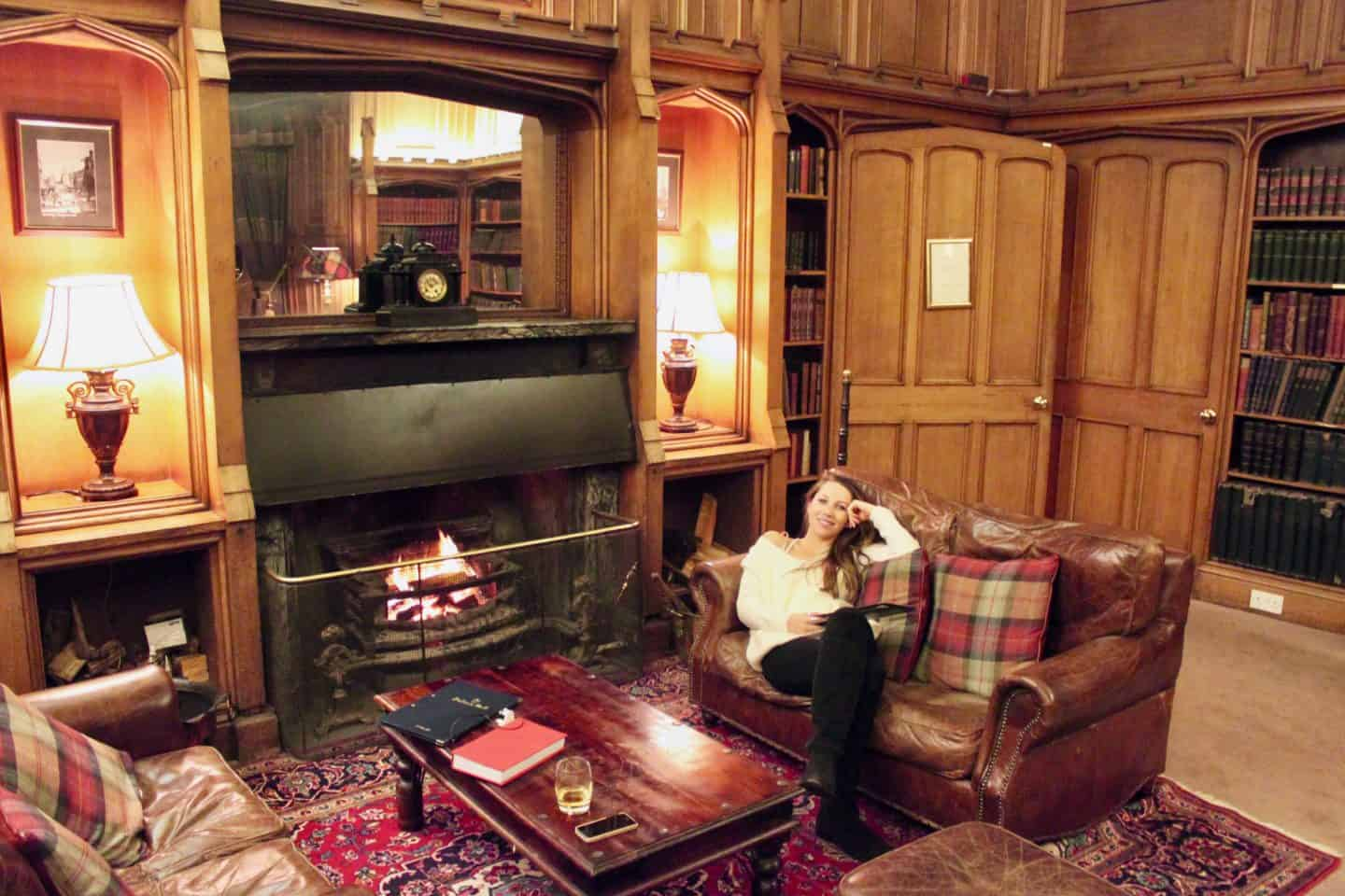 Library Bar at Dalhousie Hotel Edinburgh