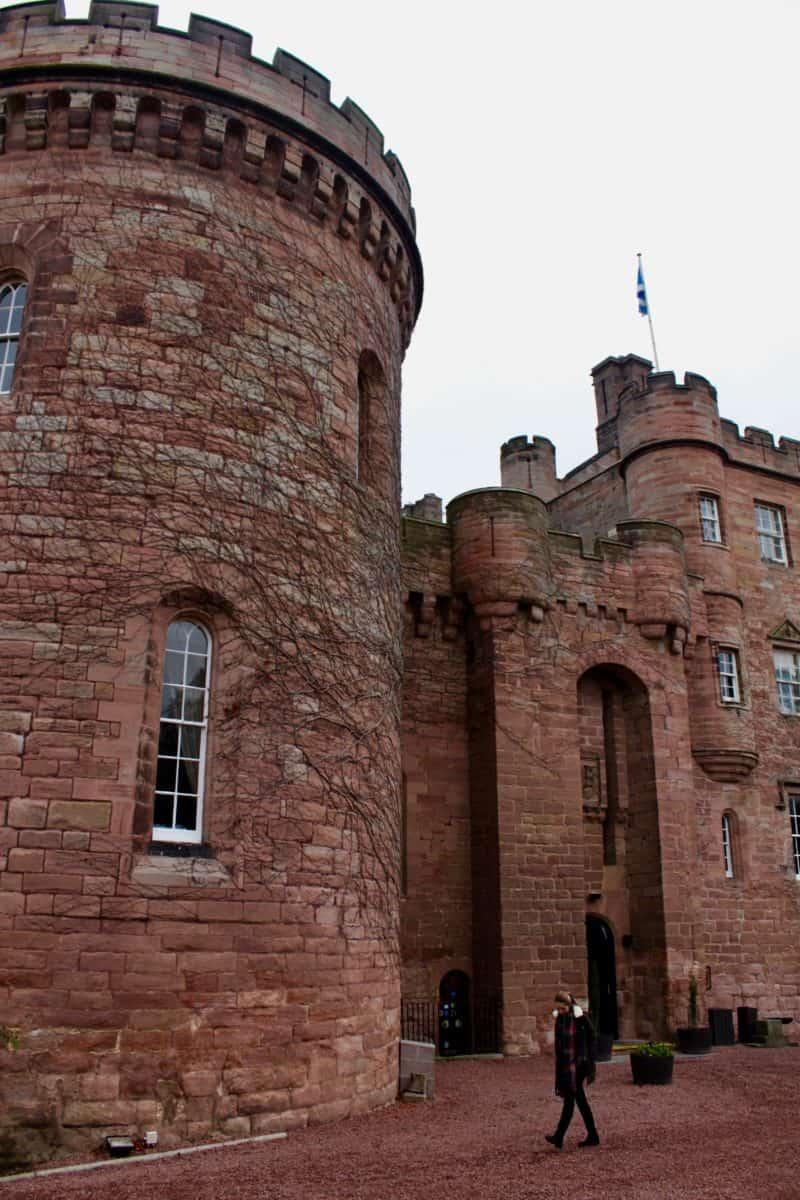 Exterior of Dalhousie Castle Hotel