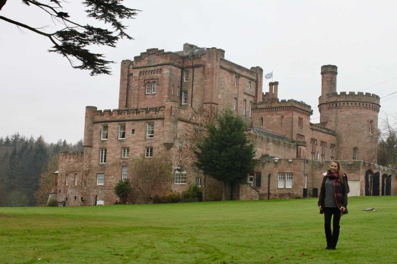 The exterior of Dalhousie Castle near Edinburgh