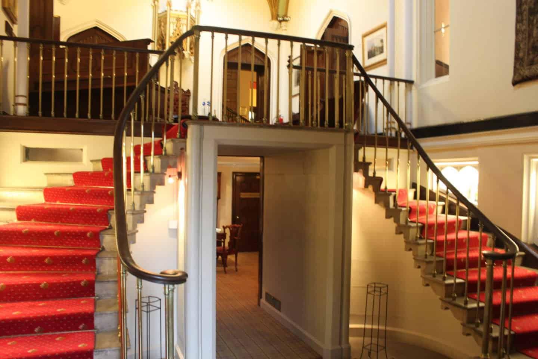 Entrance hall at Dalhousie Castle near Edinburgh