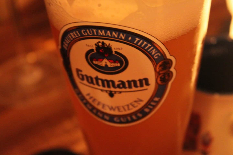 Sampling local Bavarian beer