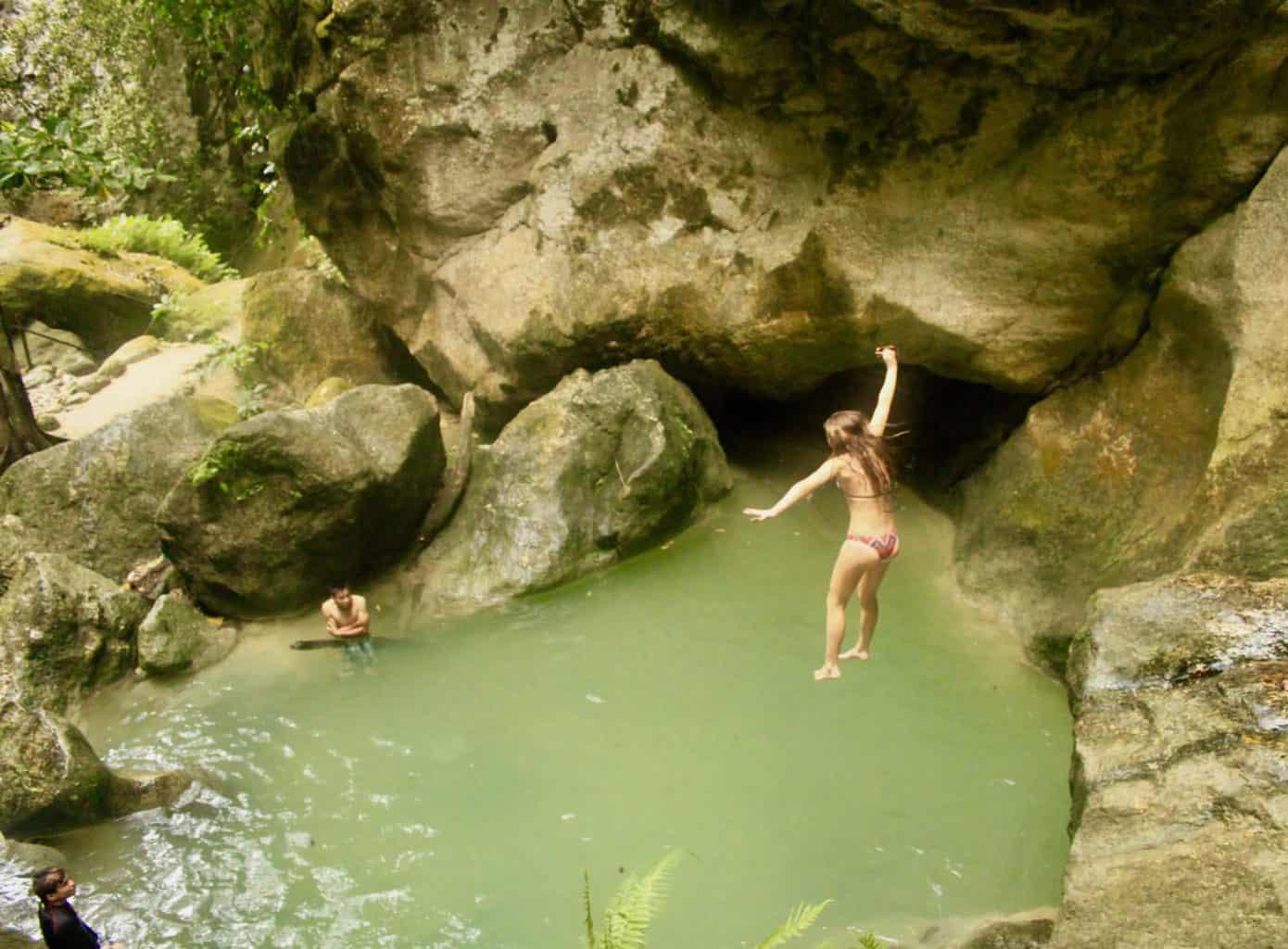 Enjoying Mainit Hot Springs