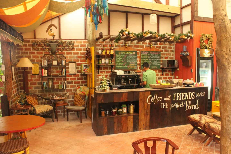 A coffee shop at Bohol Bee Farm