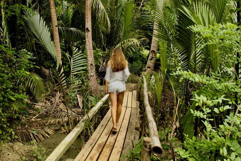 Exploring the jungle interior of El Nido