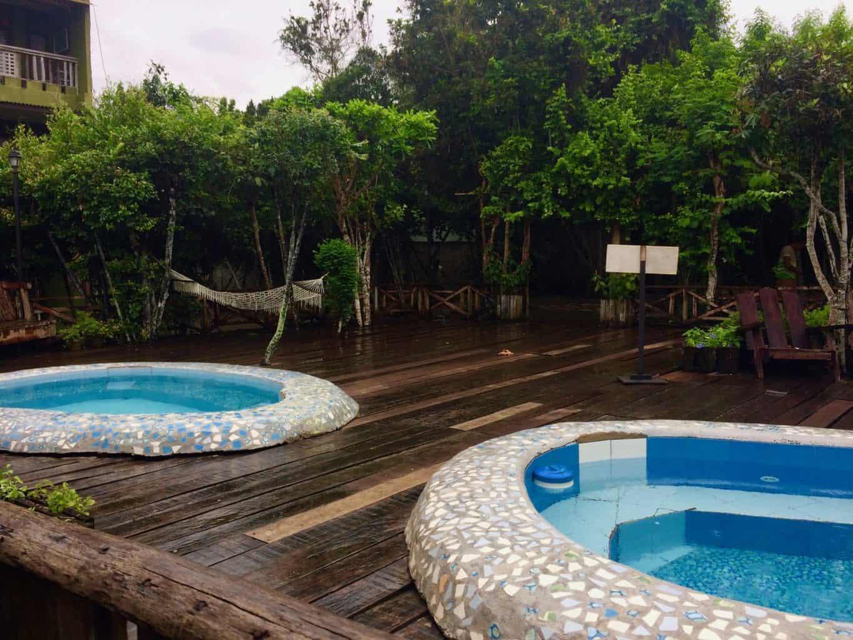 The beautiful pools at Bohol Bee Farm