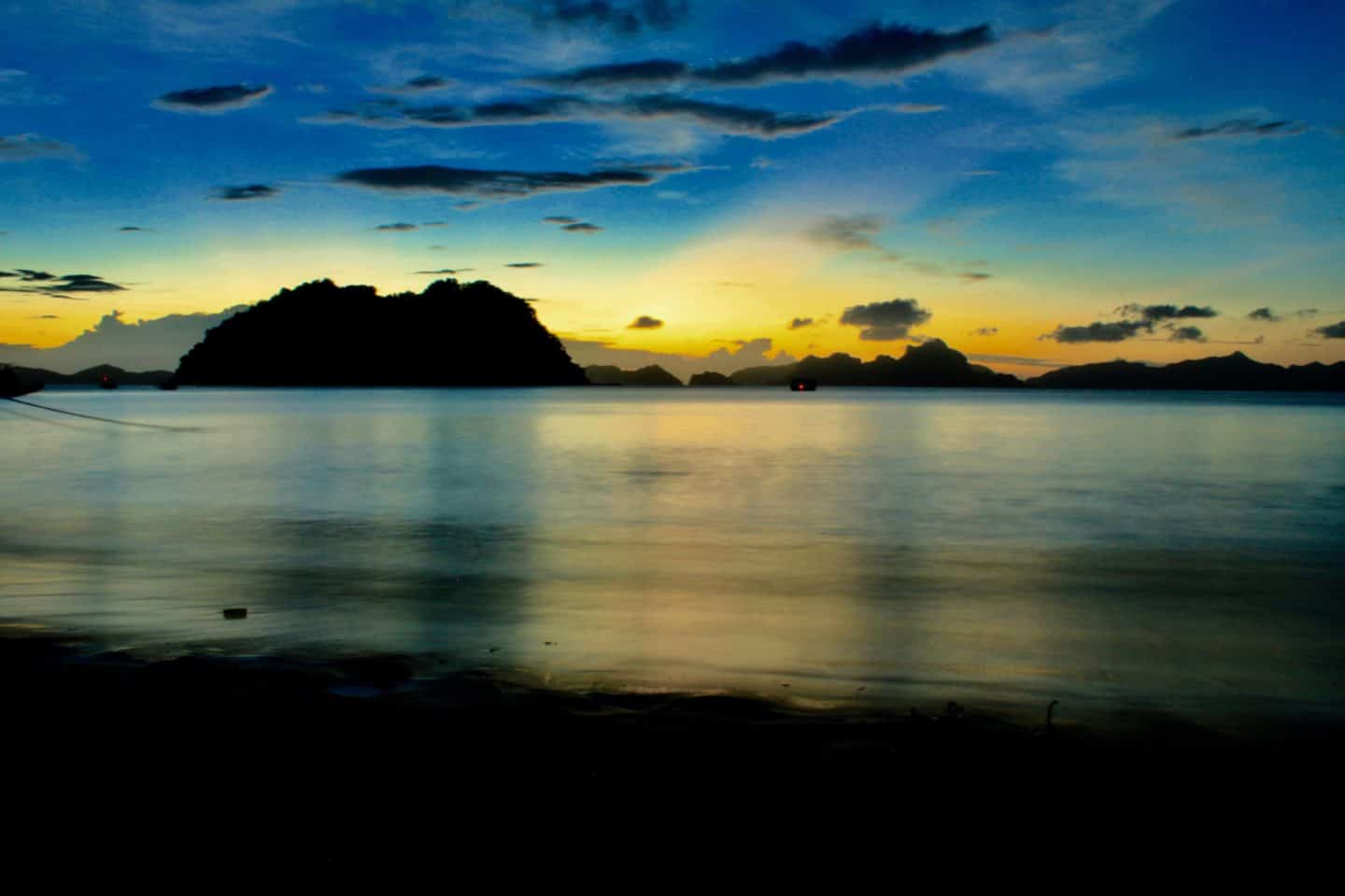 Sunset in El Nido, Palawan, Philippines