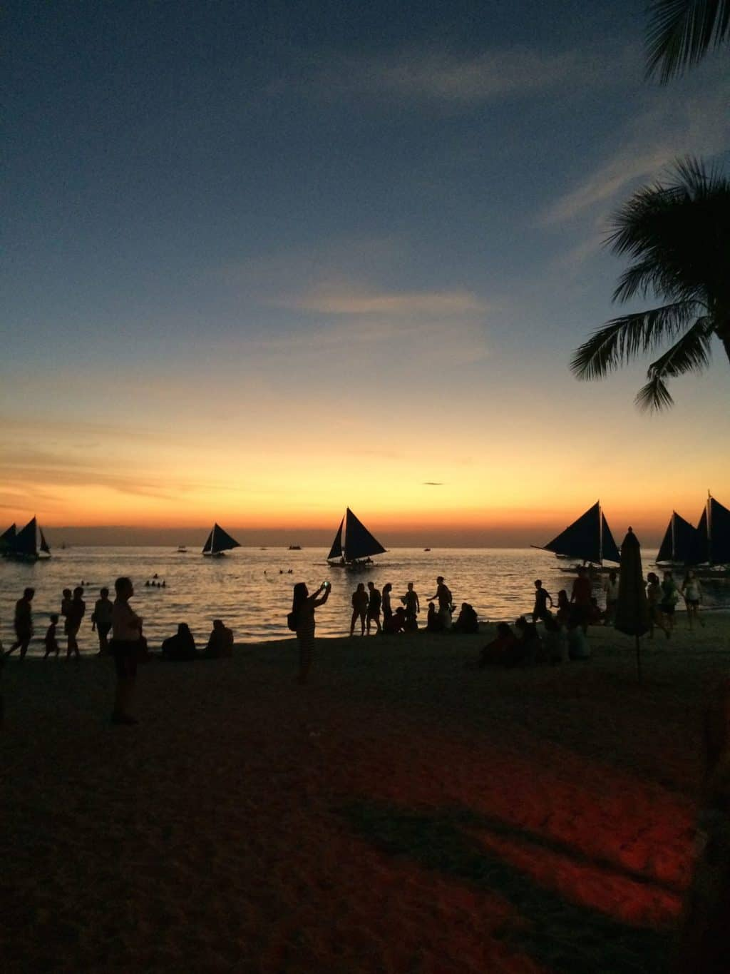Sunset on White Beach Boracay