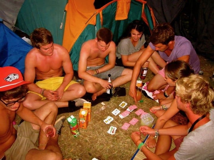 Drinking games at Benicassim Festival