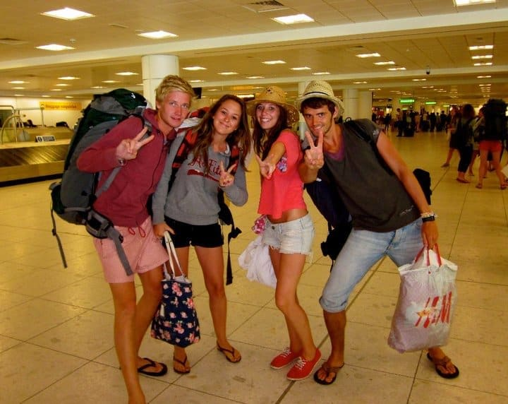 Hanging out at the airport after Benicassim