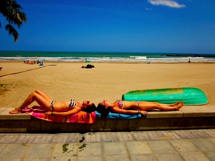 Sunbathing at Benicassim Festival