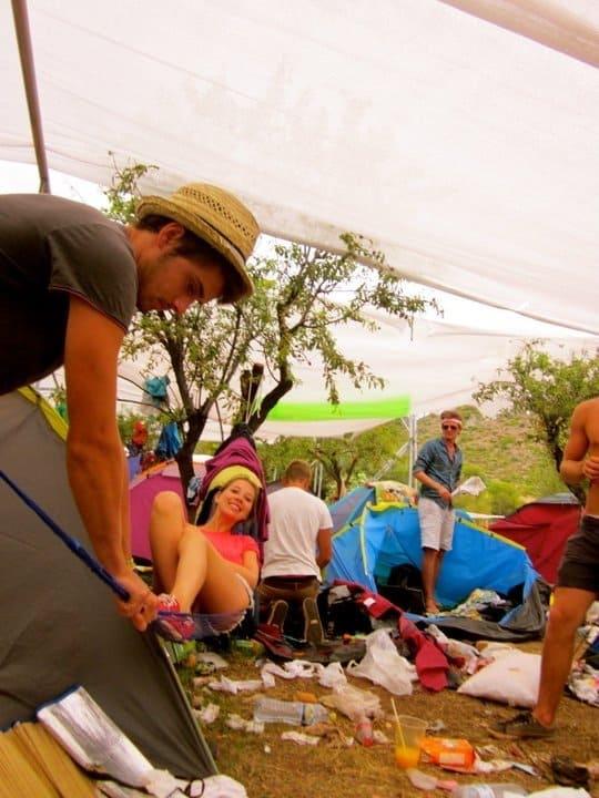 Benicassim Festival Campsite