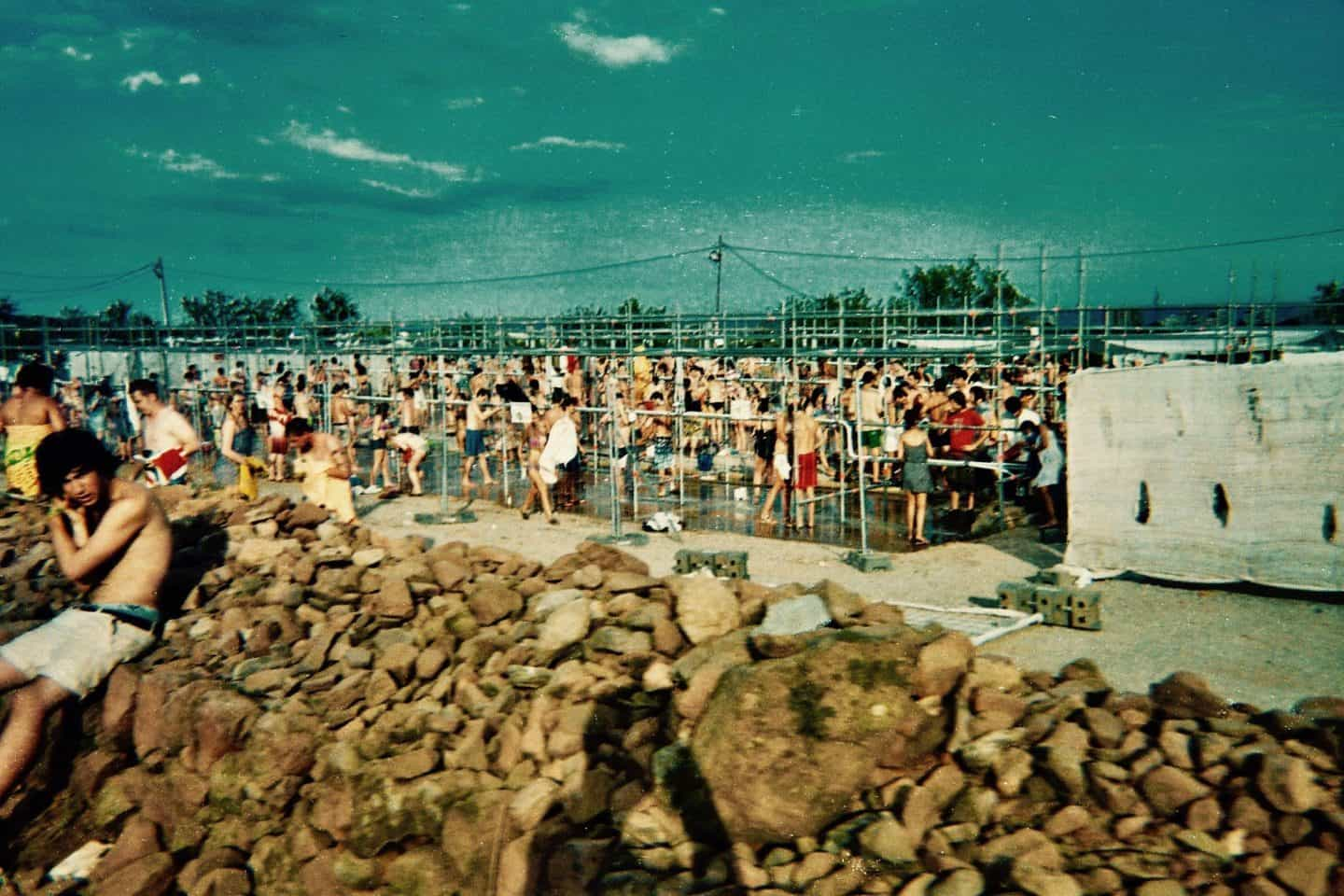 Showers at Benicassim Festival Campsite