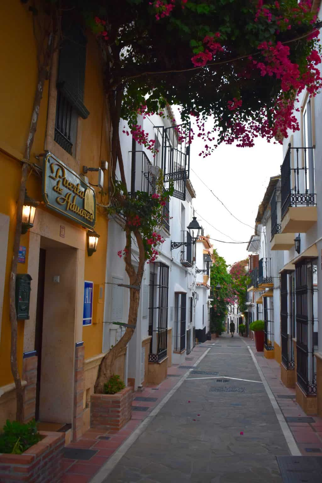 charming streets of Marbella