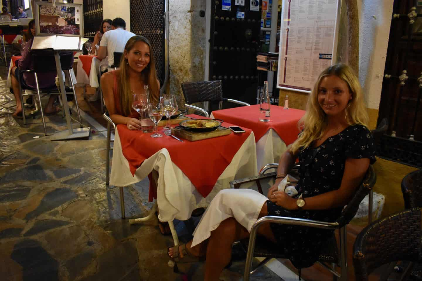 eating and drinking in Marbella