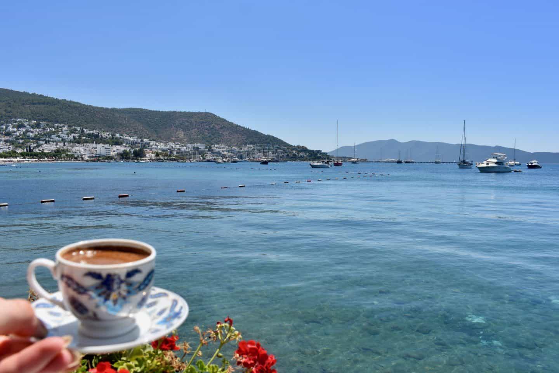 Turkish coffee in Bodrum