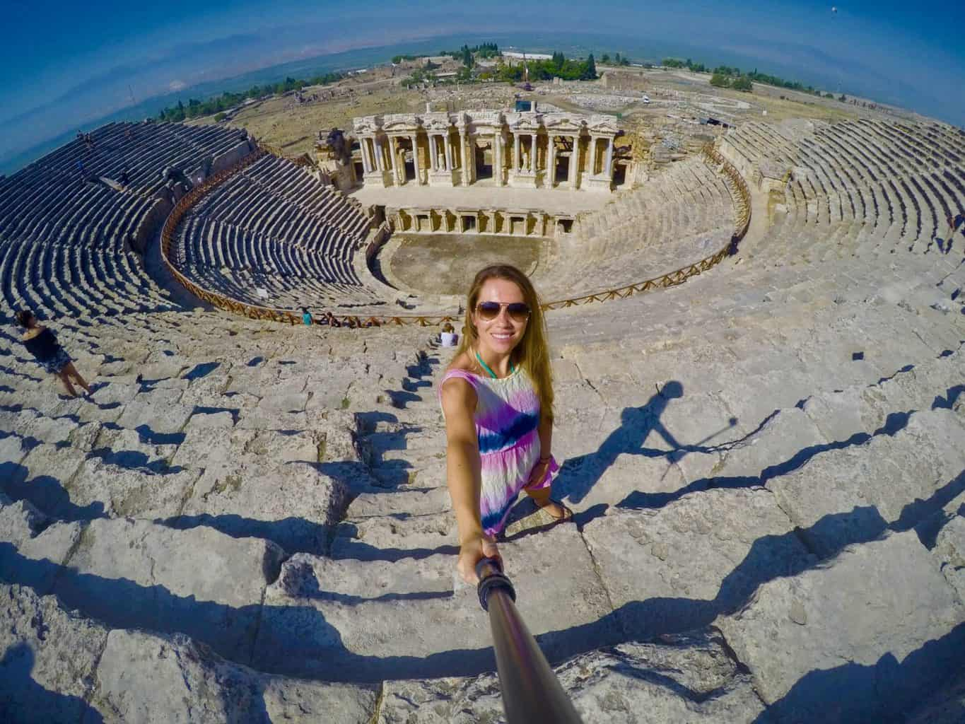 Visiting Hierapolis in Turkey