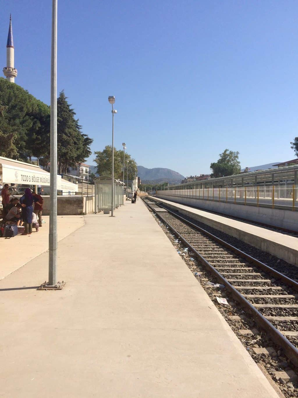 getting around by train in Turkey