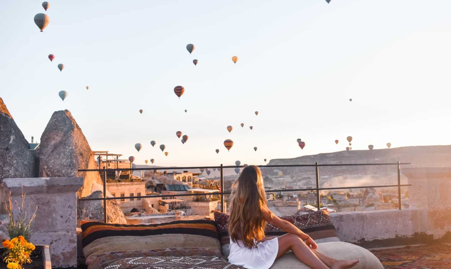 sunrise from the Sultan Cave Suites in Cappadocia