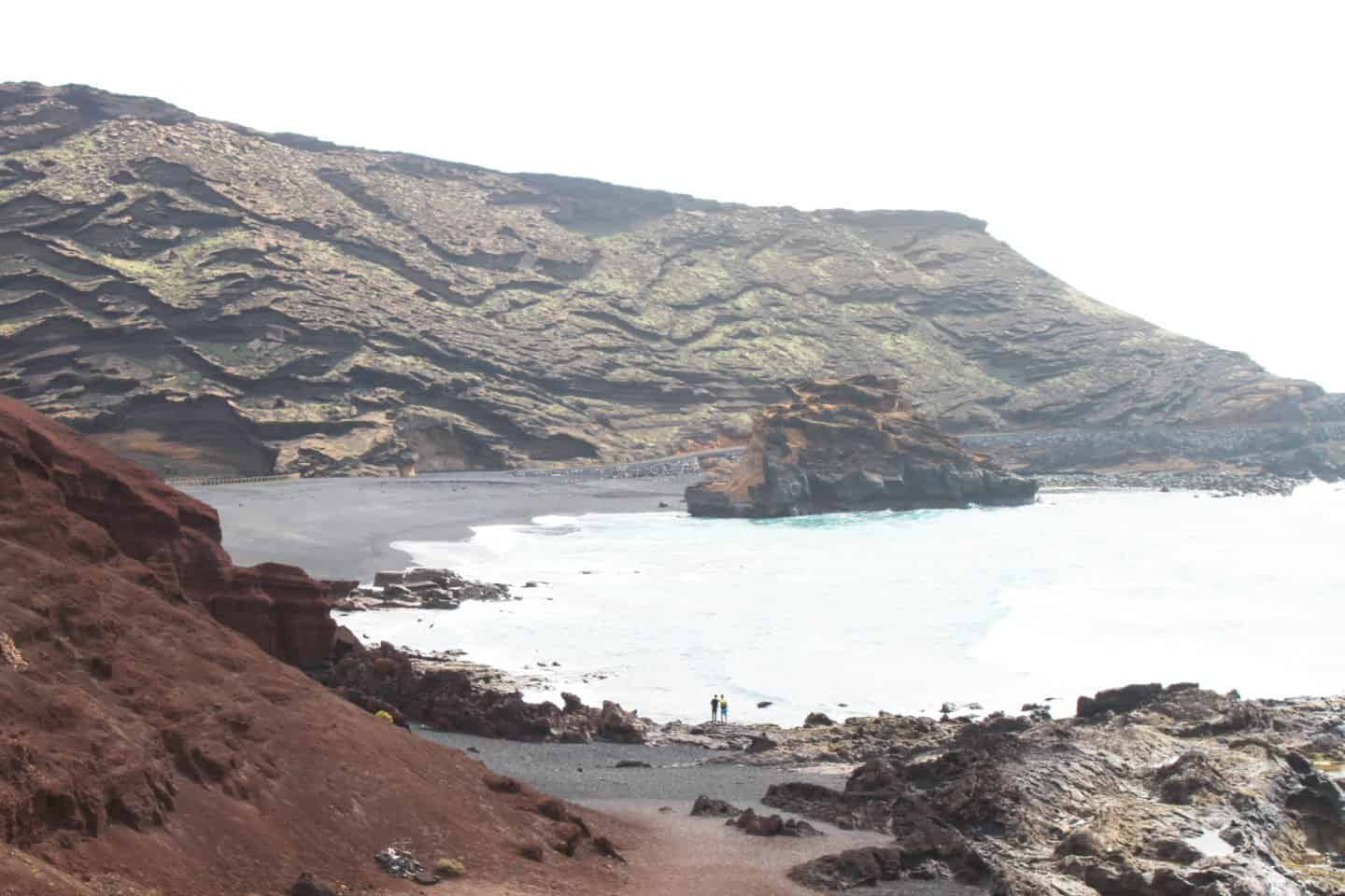 Black sand beaches in Lanzarote