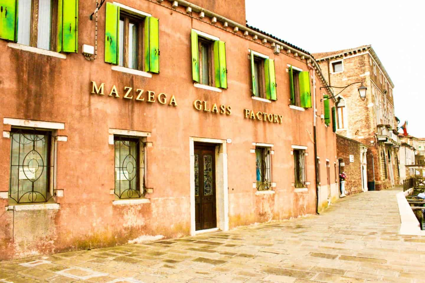 Glass blowing factory in Murano