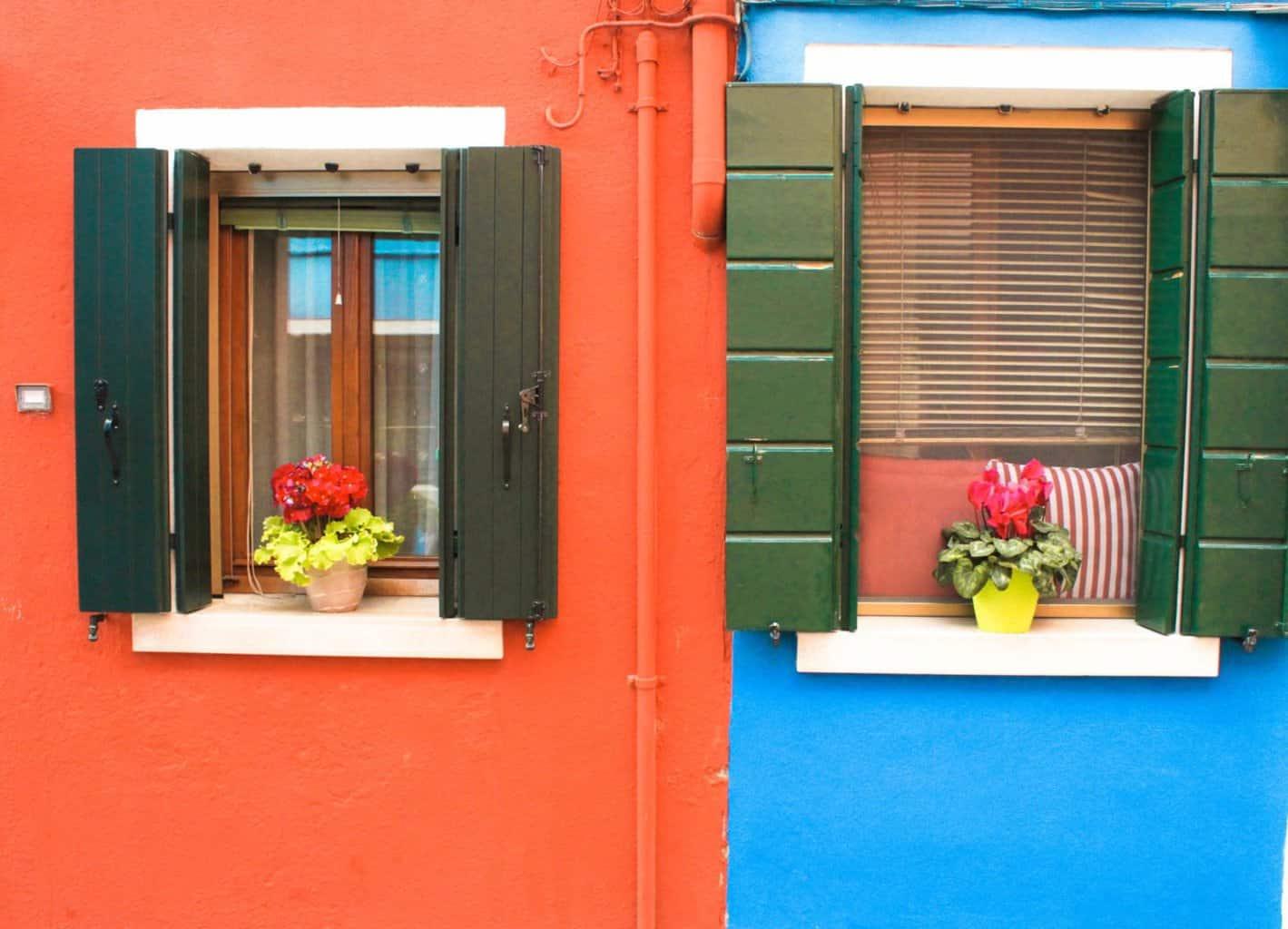 Doorways in Burano