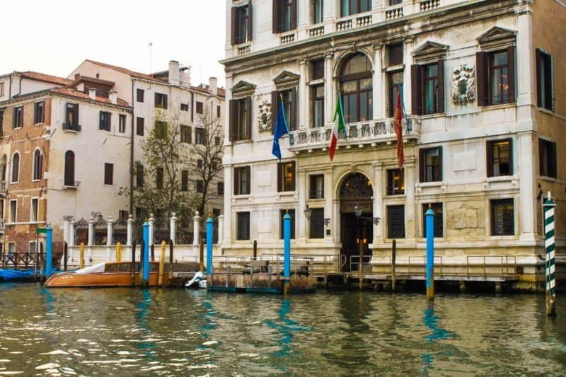 Sailing along the canals in Venice