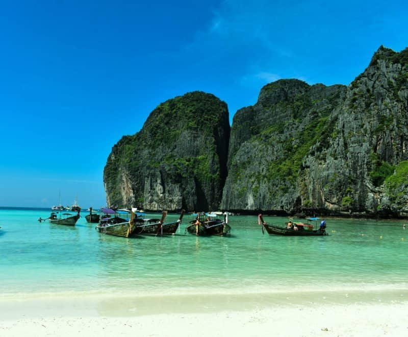 Sailing the Phi Phi Islands in Thailand without the crowds