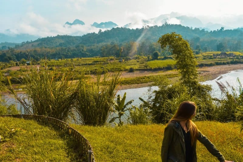 An ethical elephant experience near Luang Prabang
