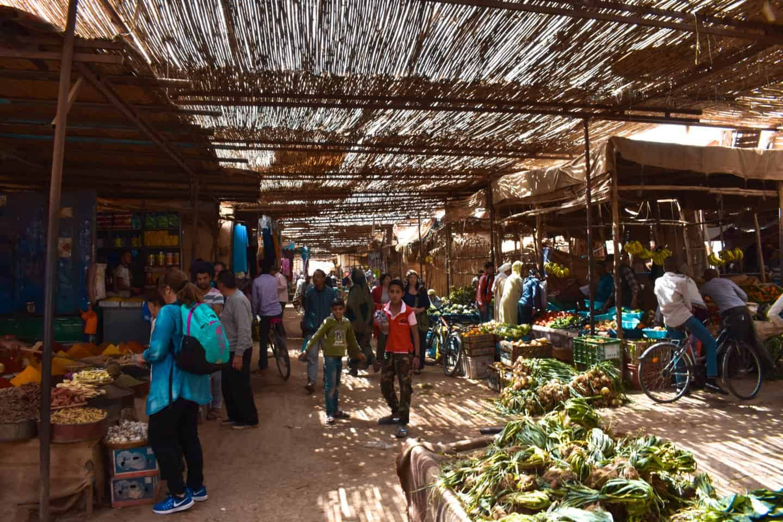 Sunday market in Rissani
