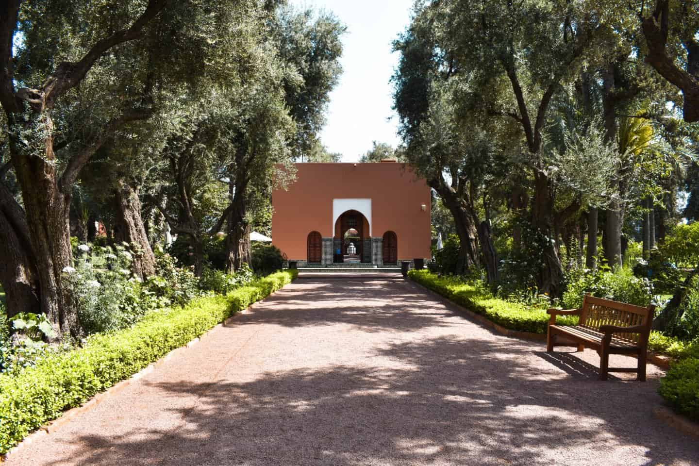 the gardens at La Mamounia