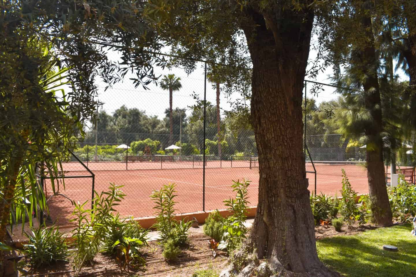 Tennis courts in Marrakech
