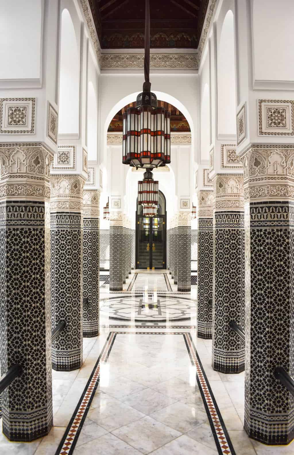 The spa entrance at La Mamounia