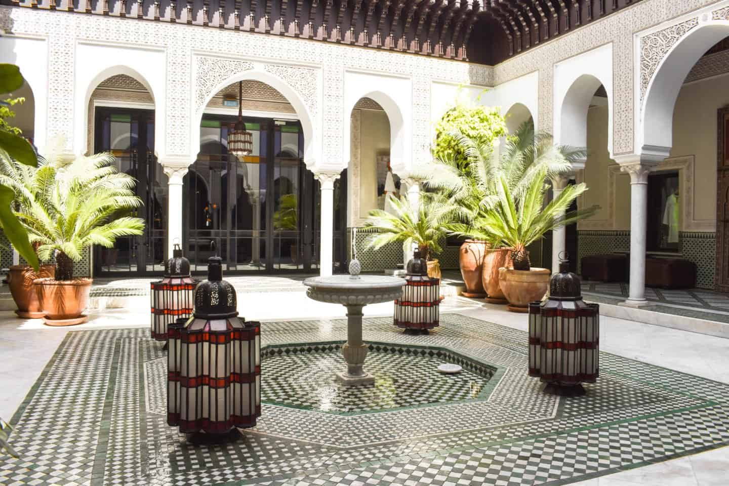 The stunning entrance to the spa at La Mamounia