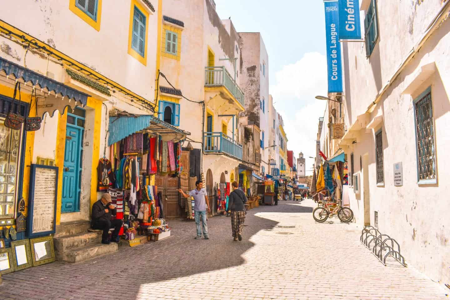 exploring the streets of Essaouira
