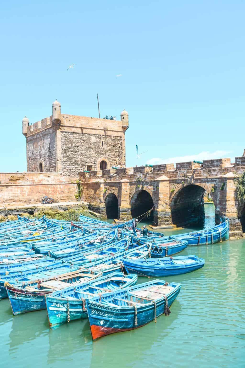 the port in Essaouira
