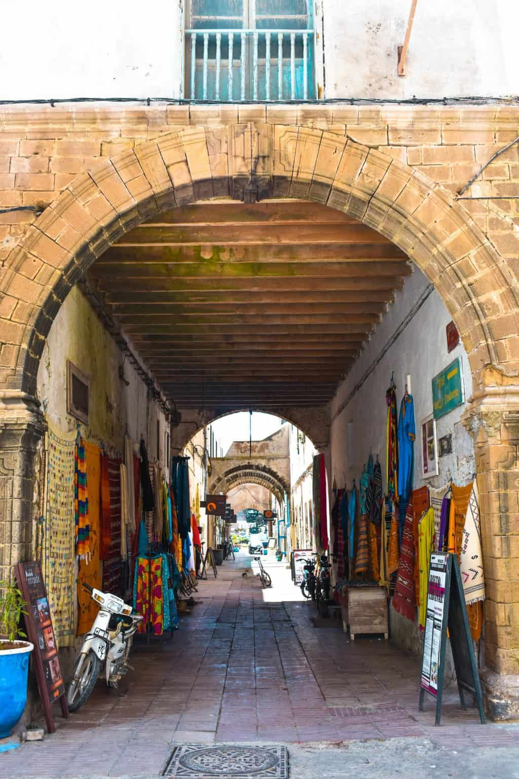 the entrance to the medina in Essaouira