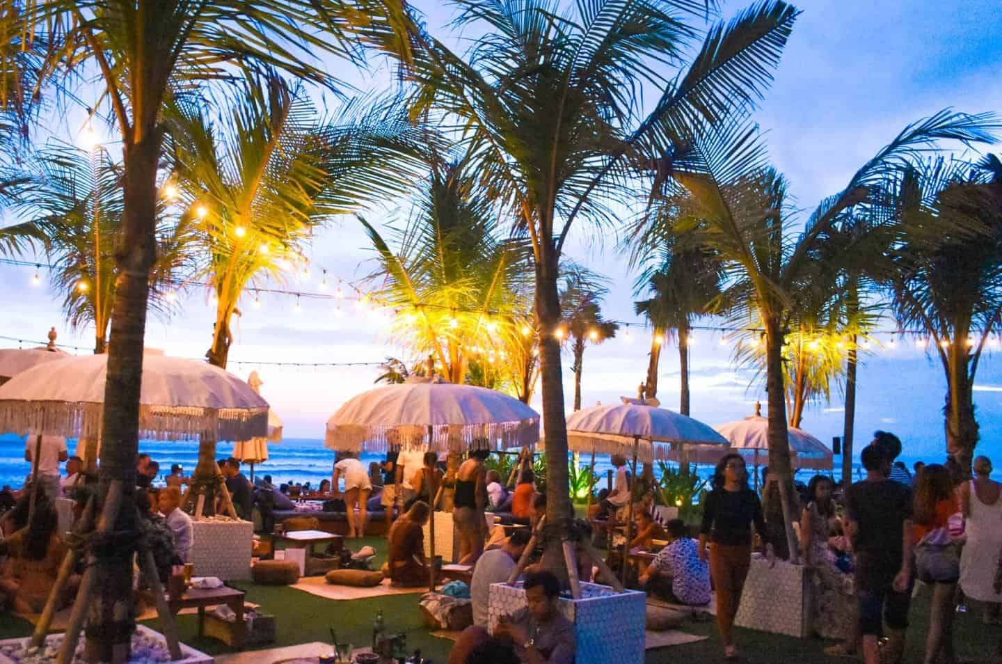 The Lawn beach club in Bali