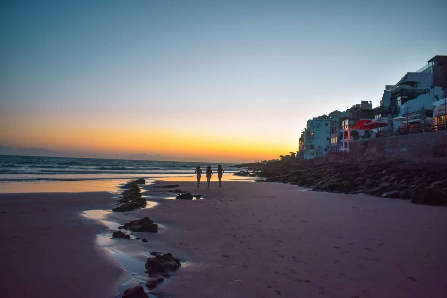 sunset in Taghazout