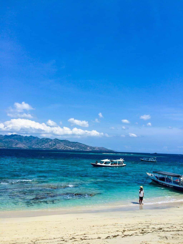 Beautiful beaches in the Gili Islands