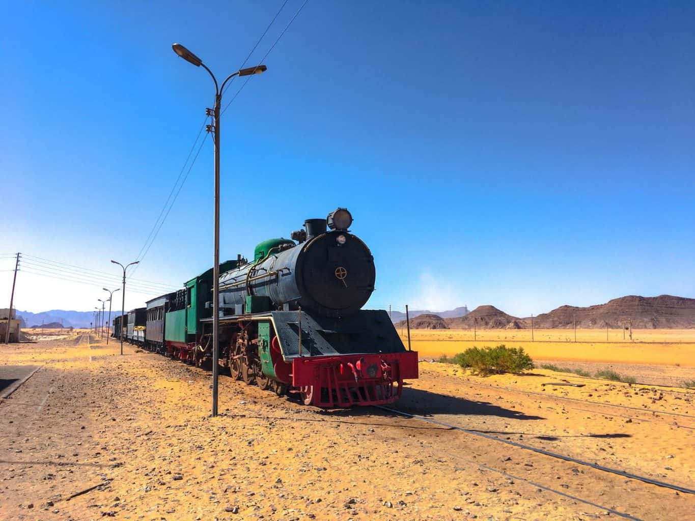 the train in Wadi Rum