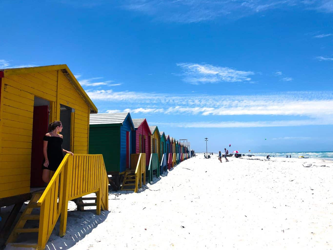 visiting Muizenberg beach