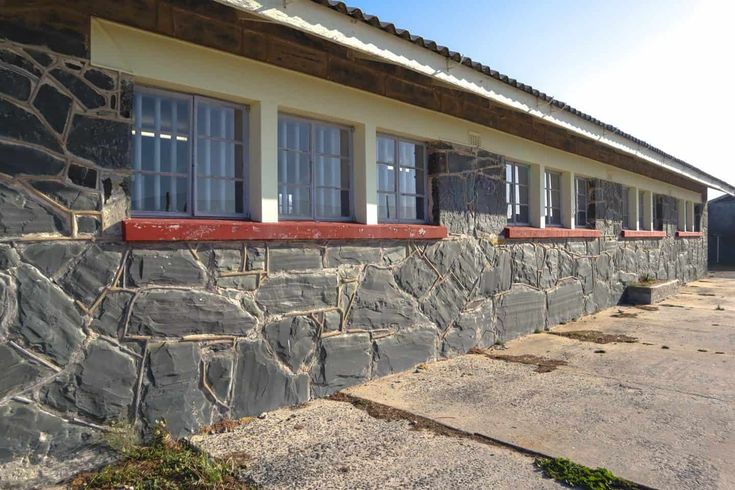 The exterior of the prison where Nelson Mandela was kept on Robben Island