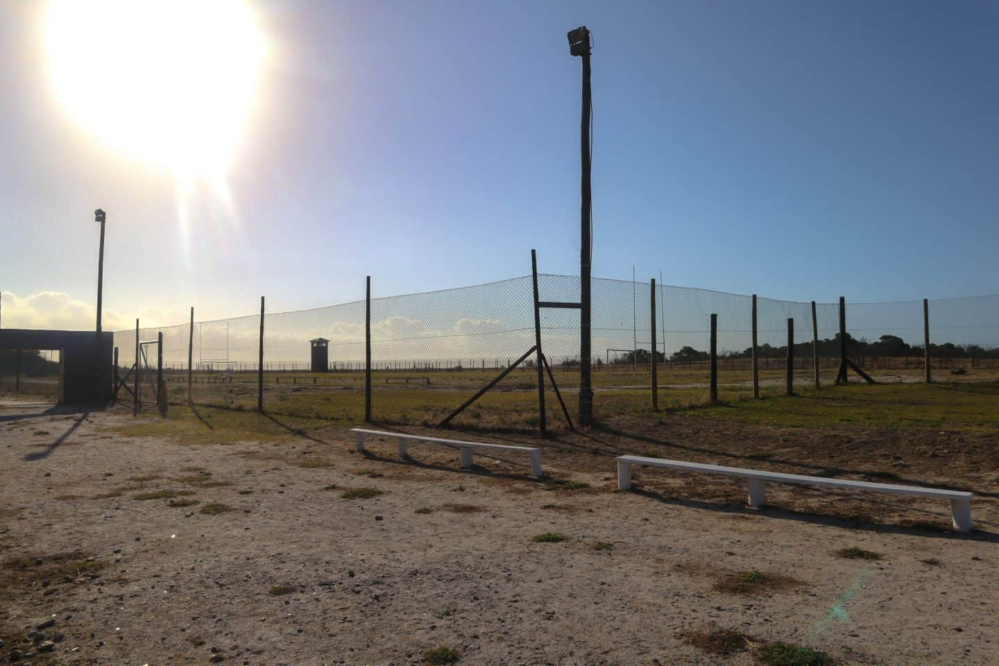 The playing fields on Robben Island