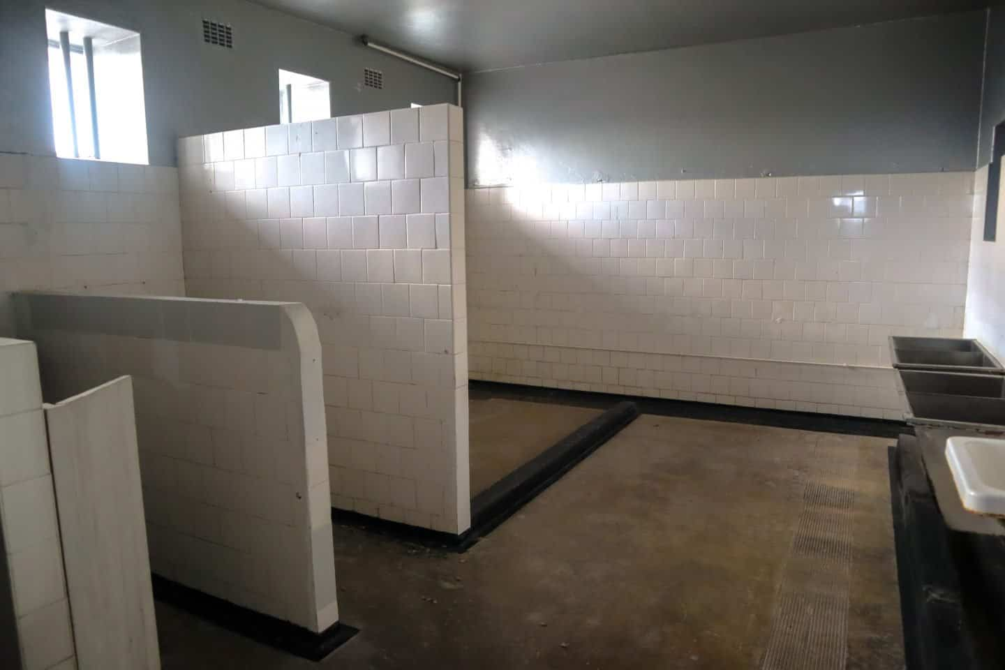 Bathroom facilities in one of the prisons on Robben Island