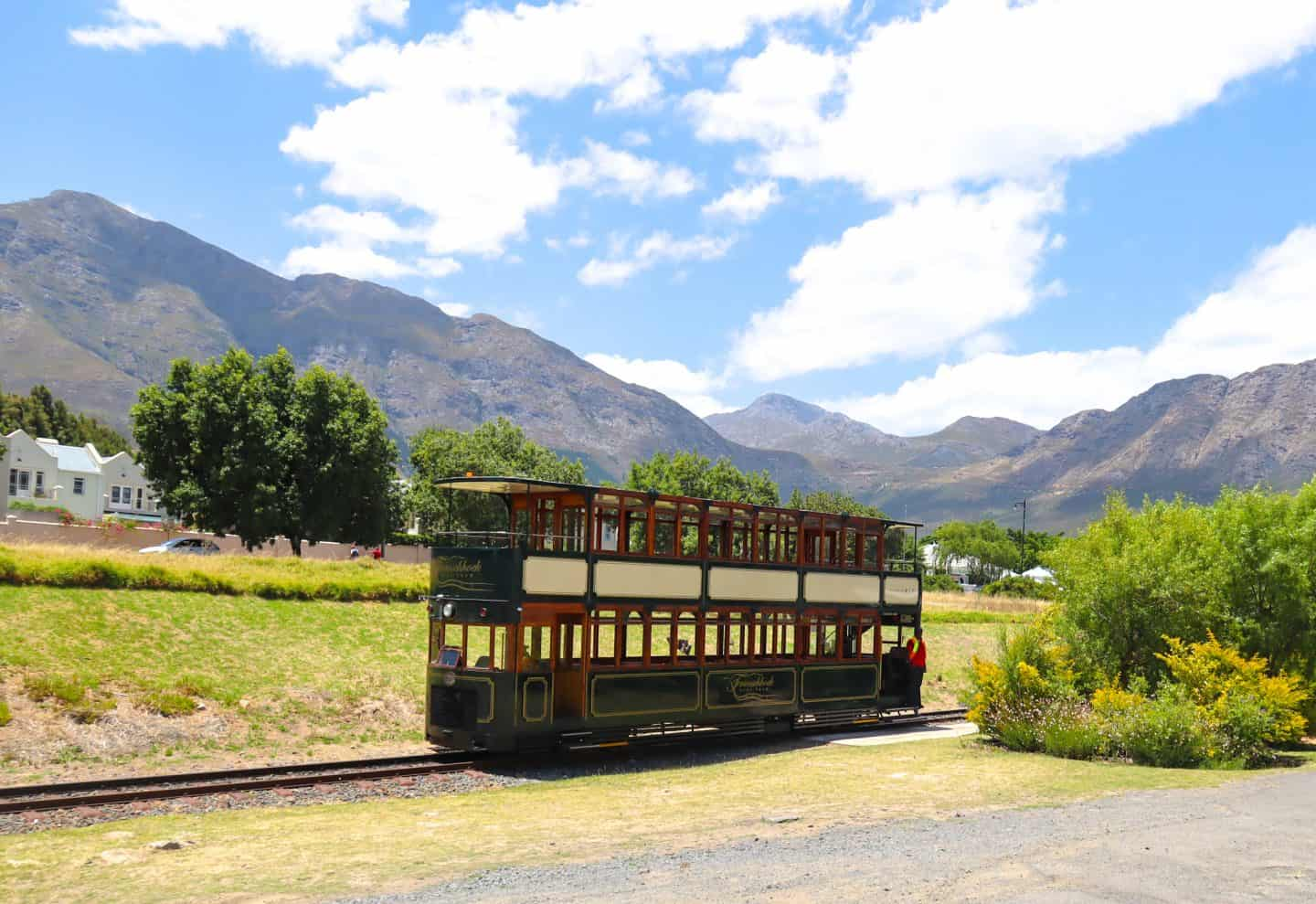 wine tram in Franschhoek