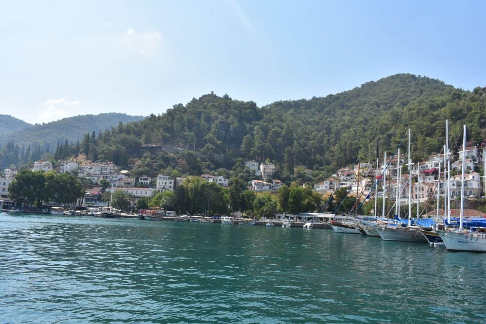 Sailing away from Fethiye