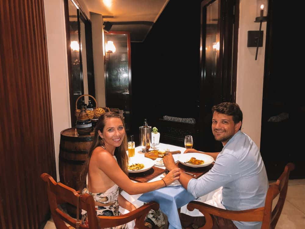 eating at the anantara peace haven resort tangalle