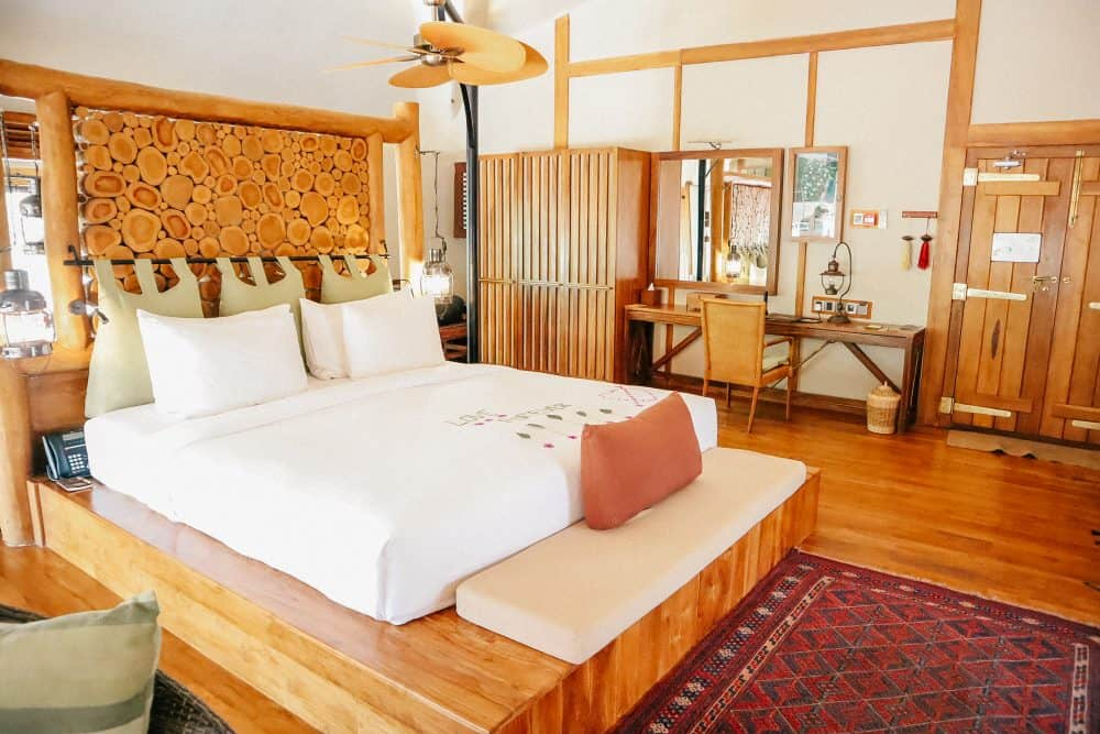 The bedroom at Chena Huts, Yala National Park