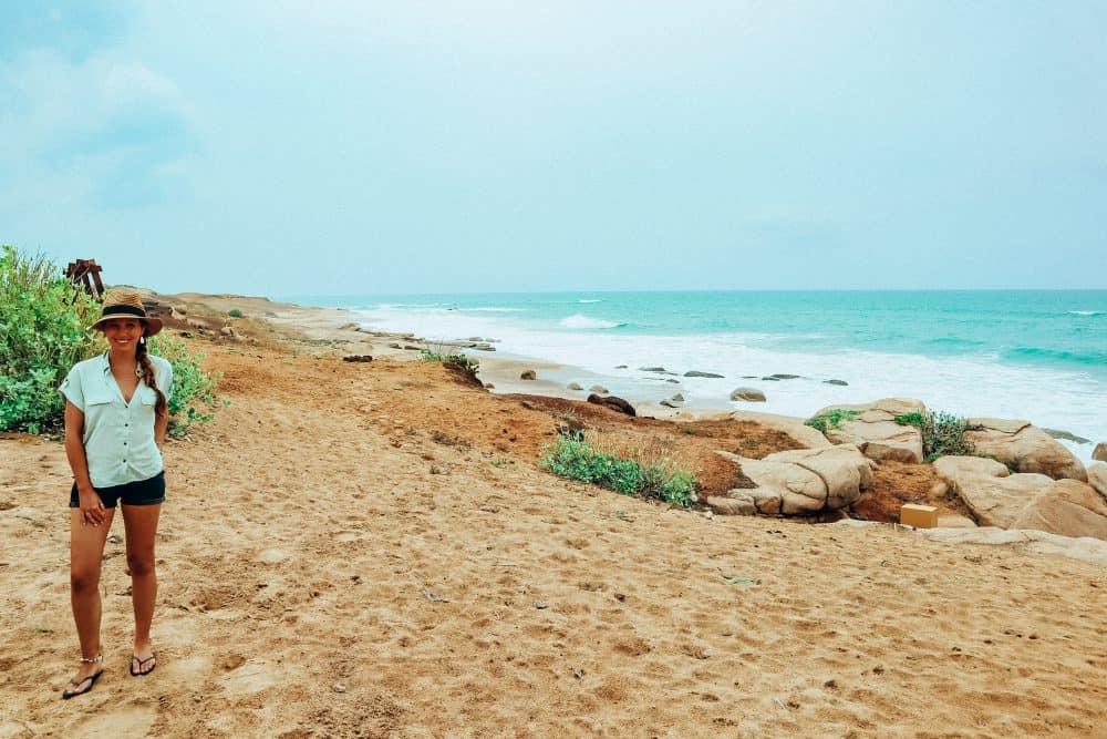 sand dunes and azure seas at Chena Huts, Yala National Park