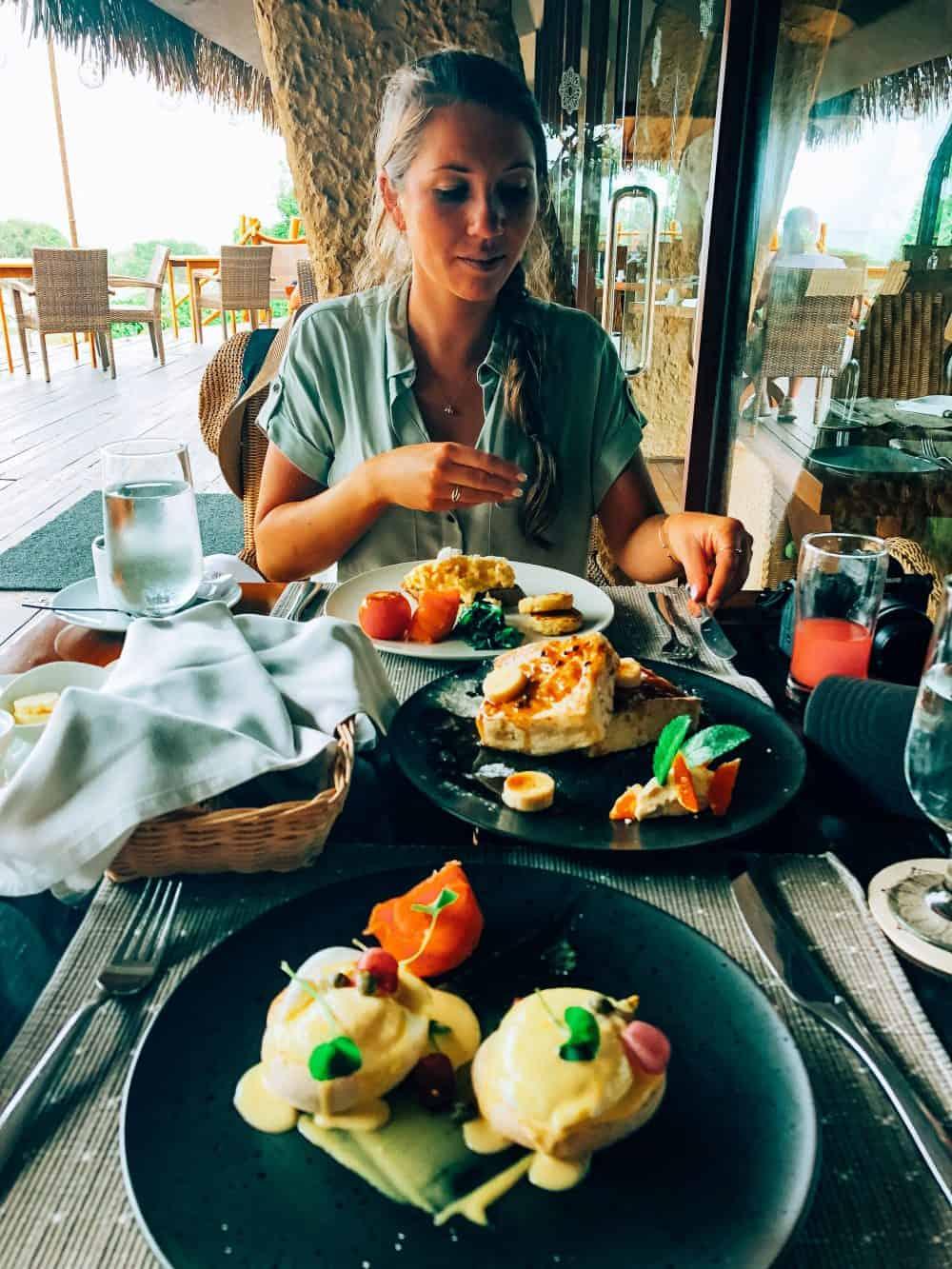 Breakfast at Chena Huts, Yala National Park